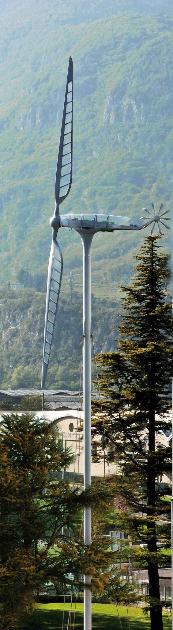 Pala eolica, Genova (Foto: Stefano Goldberg)