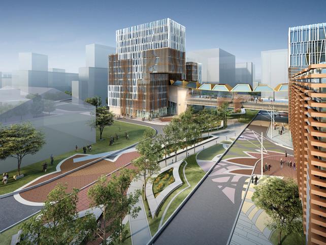 Campus Universitario di Fudan, Shanghai, in fase di realizzazione. © Miralles Tagliabue Embt