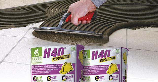 H40 revolution il 1° gel adesivo che incolla limpossibile