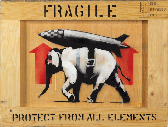 BANKSY, Protect from All Elements, Sold: $315,000