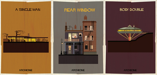 A single man, Directed by Tom Ford – Rear Window, Directed by Alfred Hitchcock – Body Double, Directed by Brian De Palma