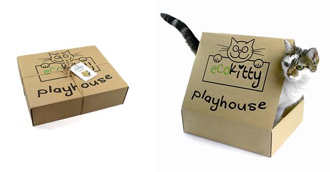 Scatola gioco Playhouse. Prodotto da Ecokitty – UK