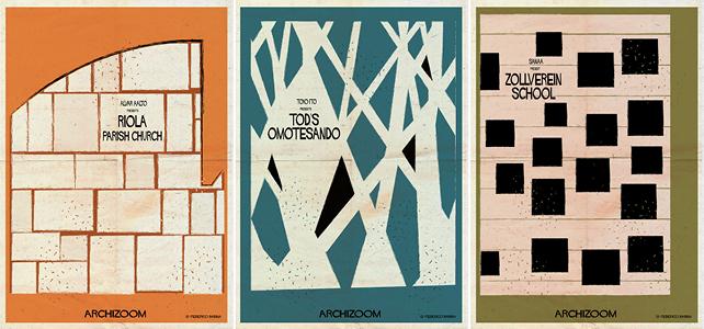 Alvar Aalto presents Riola Parish Church. Toyo Ito presents Tod's Omotesando. Sanaa presents Zollverein School.