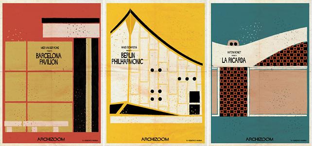 Mies van der Rohe presents Barcelona Pavilion. Hans Scharoun presents Berlin Philharmonic. Antoni Bonet presents La Ricarda.