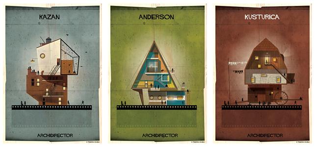 ARCHIDIRECTOR, Elia Kazan, Wes Anderson, Emir Kusturica. © Federico Babina