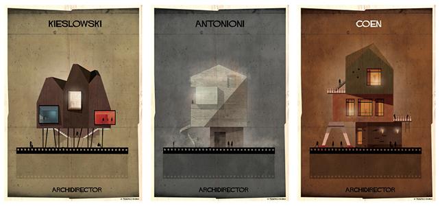 ARCHIDIRECTOR, Krzysztof Kieslowski, Michelangelo Antonioni, Fratelli Coen. © Federico Babina