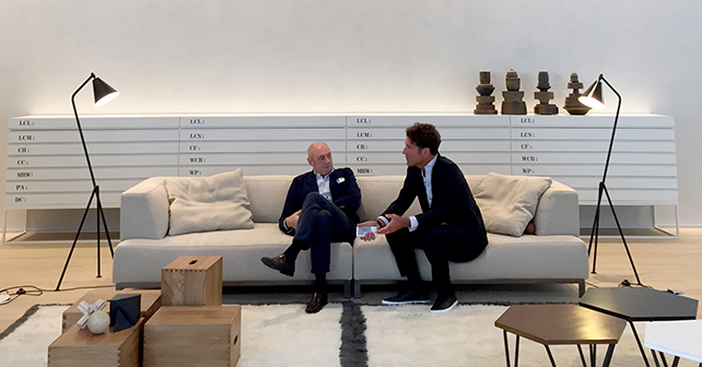 Piero Lissoni e Gian Luca Sghedoni, Ceo Kerakoll © Tommaso Sartori