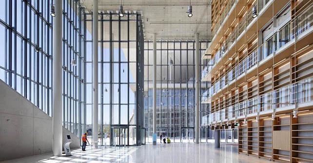 2008-2016. Stavros Niarchos Foundation Cultural Centre - Athens, Greece. Interior of the Library, 04/2016. © Michel Denancé