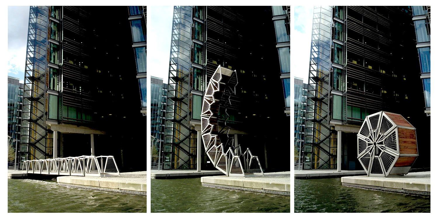 Greenbuilding magazine, Rolling bridge, Londra, Regno Unito Ph. © SteveSpeller, courtesy Heatherwick Studio